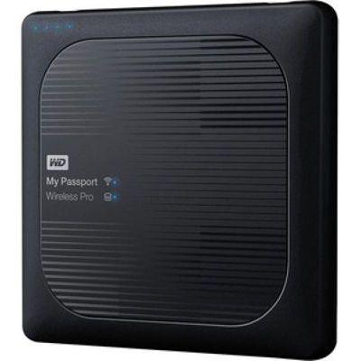image Disque dur WD My Passport Wireless Pro 4 To Noir (Wi-Fi/USB 3.0/SD-Card)