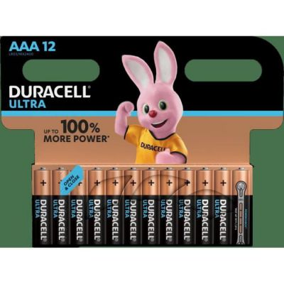 image Duracell Ultra, pack de 12 piles alcalines Type AAA 1,5 Volts LR03 MN2400