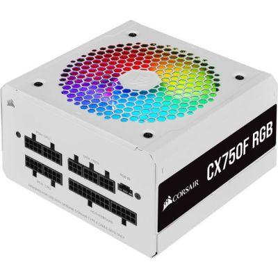 image CORSAIR Alimentation PC - CX RGB Series CX750F - 750W - 80 PLUS Bronze - Modulaire - Blanche (CP-9020227-EU)