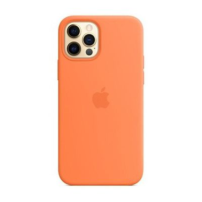 image Apple Coque en Silicone avec MagSafe (pour iPhone 12 Pro Max) - Kumquat
