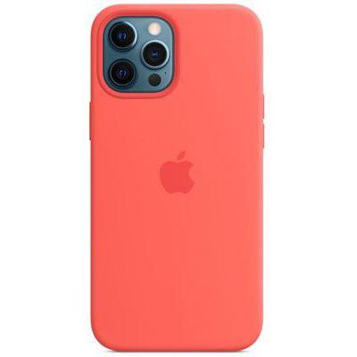 image Apple Coque en Silicone avec MagSafe (pour iPhone 12 Pro Max) - Rose agrume