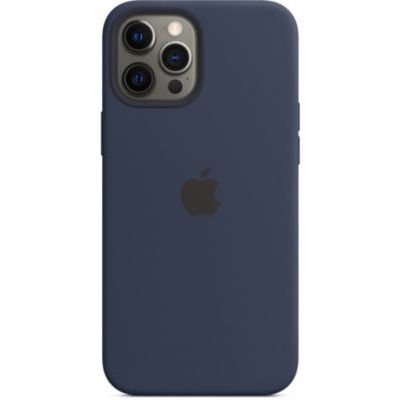image Apple Coque en Silicone avec MagSafe (pour iPhone 12 Pro Max) - Marine Intense