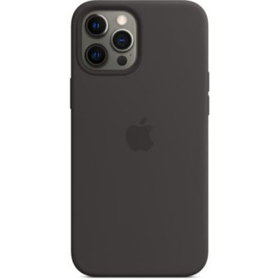 image Apple Coque en Silicone avec MagSafe (pour iPhone 12 Pro Max) - Noir