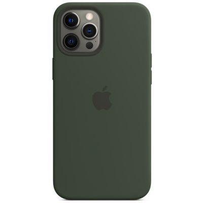 image Apple Coque en Silicone avec MagSafe (pour iPhone 12 Pro Max) - Vert de Chypre