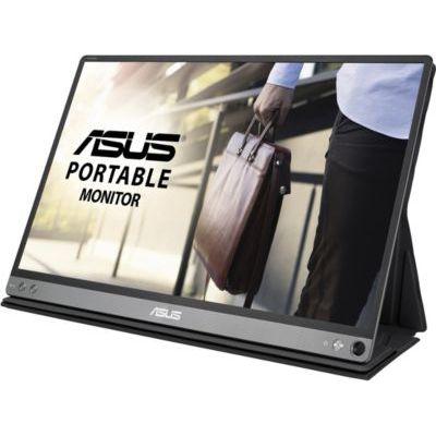"""image ASUS Zenscreen MB16AC - Ecran PC portable 15.6"""" FHD - Télétravail ou gaming - Alimentation et affichage via USB-C ou USB-A - Dalle IPS - 1920x1080 - 220cd/m² - Flicker Free"""