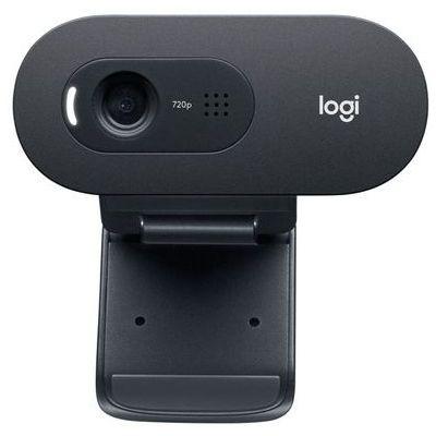 image Logitech C505 Webcam HD - Webcam USB HD 720p pour Ordinateur de Bureau et Ordinateur Portable, avec Microphone Longue Portée, Compatible avec PC ou Mac - Gris