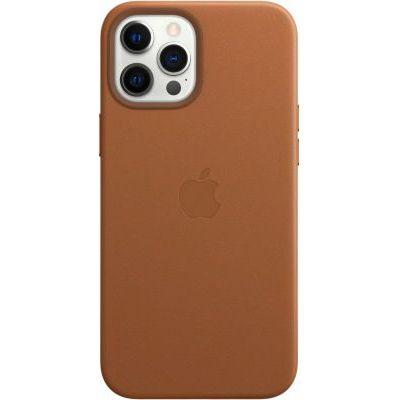 image Apple Coque en Cuir avec MagSafe (pour iPhone 12 Pro Max) - Havane