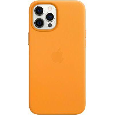 image Apple Coque en Cuir avec MagSafe (pour iPhone 12 Pro Max) - Pavot de Californie