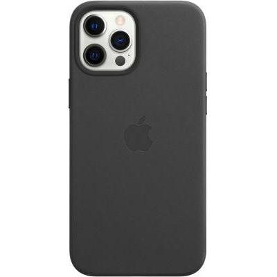 image Apple Coque en Cuir avec MagSafe (pour iPhone 12 Pro Max) - Noir