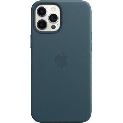 image Apple Coque en Cuir avec MagSafe (pour iPhone 12 Pro Max) - Bleu Baltique