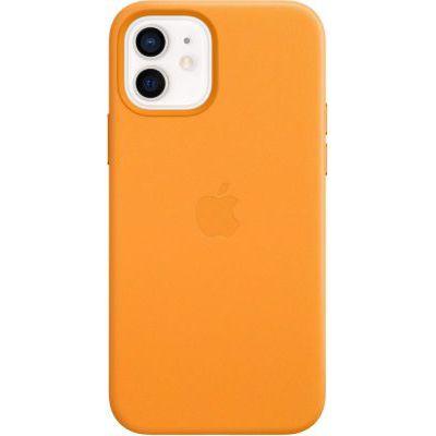 image Apple Coque en Cuir avec MagSafe (pour iPhone12, 12Pro) - Pavot de Californie
