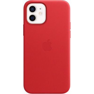image Apple Coque en Cuir avec MagSafe (pour iPhone12, 12Pro) - (Product) Red