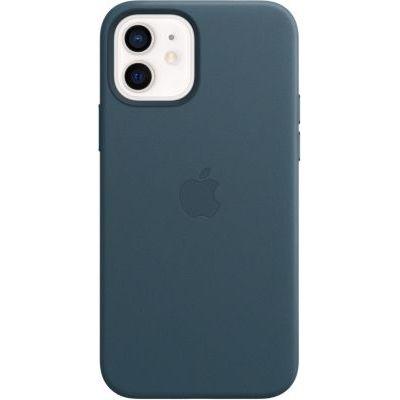 image Apple Coque en Cuir avec MagSafe (pour iPhone12, 12Pro) - Bleu Baltique