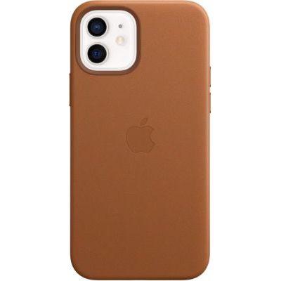 image Apple Coque en Cuir avec MagSafe (pour iPhone12, 12Pro) - Havane