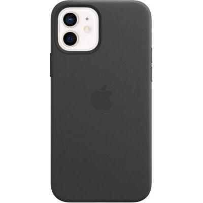 image Apple Coque en Cuir avec MagSafe (pour iPhone12, 12Pro) - Noir