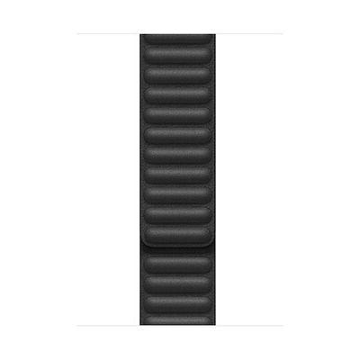 image Apple Watch Bracelet à maillons cuir Noir (40mm) - Large
