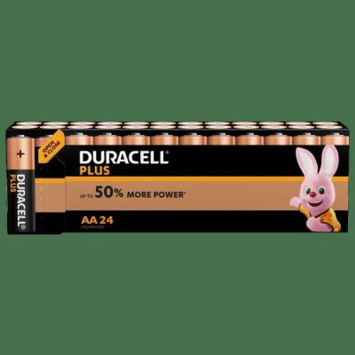 image Duracell Plus, lot de 24 piles alcalines Type AA 1,5 Volts LR6 MX1500