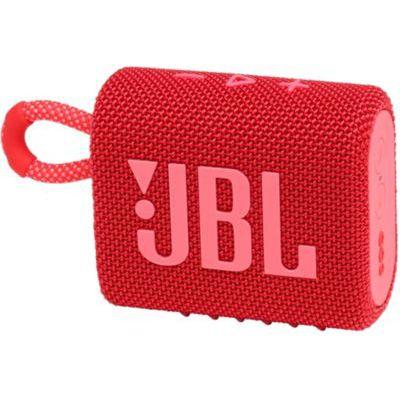 image JBL GO 3 – Enceinte Bluetooth portable et légère, aux basses intenses et au style audacieux – Étanche à l'eau et à la poussière – Autonomie 5 hrs – Rouge