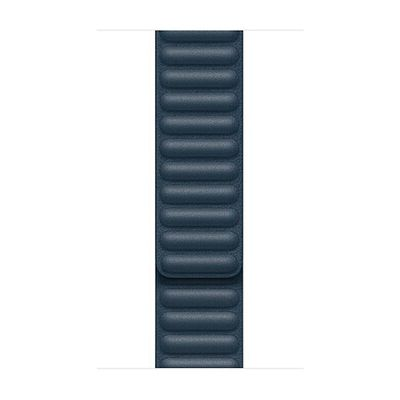 image Apple Watch Bracelet à maillons cuir Bleu Baltique (40mm) - Large