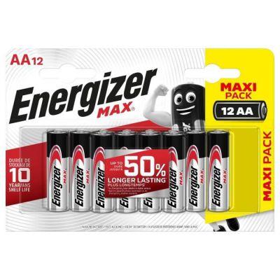 image Piles Alcalines Energizer Max AA/LR6, pack de 12