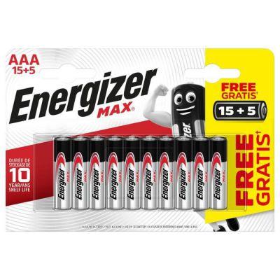 image Energizer Alkaline Max Pack de 15 + 5 Piles alcalines Max AAA