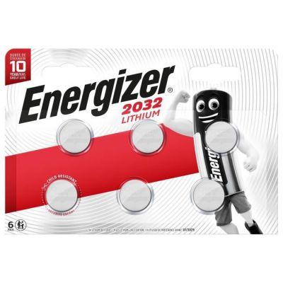 image Energizer CR2032 Lot de 6 Piles au Lithium 3 V