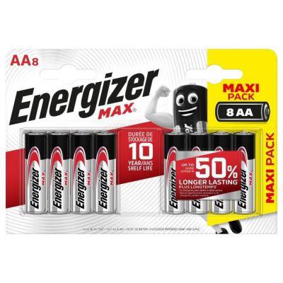 image Energizer Piles LR06/AA Max+Power - Les 8 piles