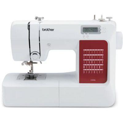image Brother CS10sVM1 CS10s Machine à coudre, métal, blanc, rouge, full size sewing machine