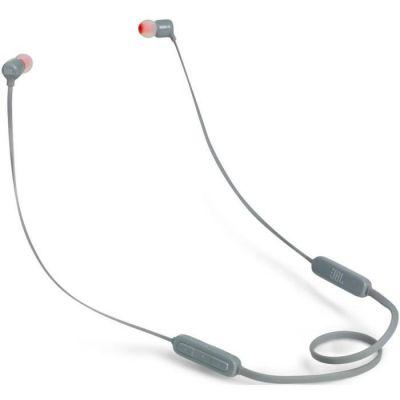image JBL T110BT – Écouteurs Intra-Auriculaires Légers Sans Fil – Bluetooth – Avec Commande pour Appels – Autonomie Jusqu'à 6 hrs – Bluetooth, Gris