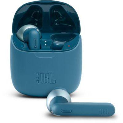 image JBL TUNE 225TWS – Écouteurs intra-auriculaires véritablement sans fil – Bluetooth – Autonomie jusqu'à 25 heures – Étui de recharge pratique et élégant – Couleur : bleu