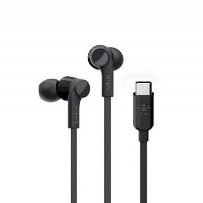 image Belkin Écouteurs SoundForm avec connecteur USB-C (intra-auriculaires USB-C) noir