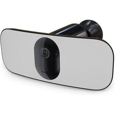 image Arlo Pro 3 Floodlight Black, caméra de surveillance 100% sans fil en 2K avec éclairage connecté intégré jusqu'à 7m.Etanche, vision nocturne couleur. Audio bidirectionnel. Avec batterie. Noir.(FB1001B)