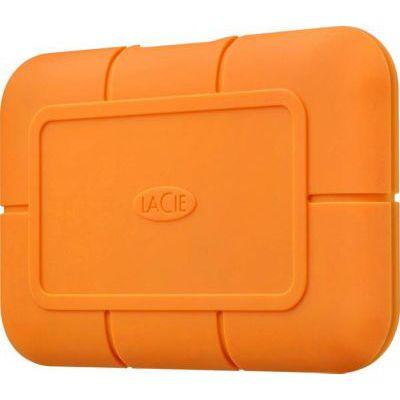 image LaCie Rugged SSD 2 To, Disque SSD externe, USB-C USB 3.0 Thunderbolt 3, Résistance extrême à l'eau et aux chutes de trois mètres, Mac, PC (STHR2000800)