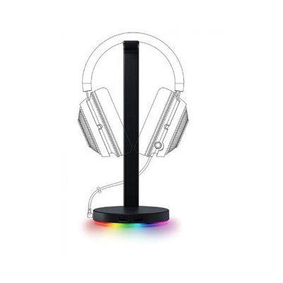 image Razer Base Station V2 Chroma - Support pour casque / casque avec concentrateur USB: Éclairage Chroma RGB - 2 ports USB 3.1 - Base antidérapante - Conçu pour les casques de jeu - Noir