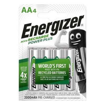 image Energizer Piles Rechargeables AA, Recharge Power Plus, Lot de 4