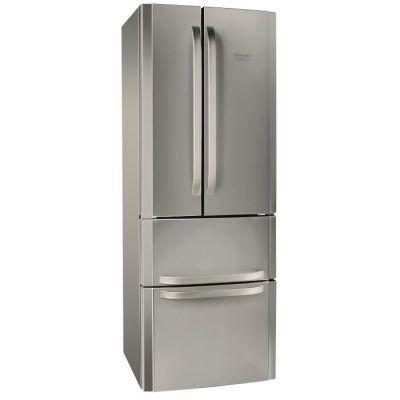image HOTPOINT E4DXC1 - Réfrigérateur multi-portes - 399L (292+107) - Froid ventilé - A+ - L 70cm x H 195.5cm - Silver