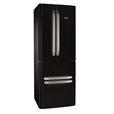 image HOTPOINT E4DBC1 - Réfrigérateur multi-portes - 399L (292+107) - Froid ventilé No frost - A+ - L 70cm x H 195.5cm - Noir