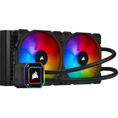 image Corsair iCUE H115i ELITE CAPELLIX Watercooling pour processeur (33 LED CAPELLIX RGB Ultra Lumineuses, Deux Ventilateurs PWM ML RGB de 140 mm, 400 à 2 000 TR/min, iCUE Commander CORE inclus) Noir