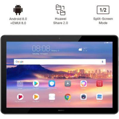 """image HUAWEI MediaPad T5 Wi-Fi Tablette Tactile 10.1"""" (32Go, 2Go de RAM, Android 8.0, Bluetooth, 2 haut-parleurs), Noir"""