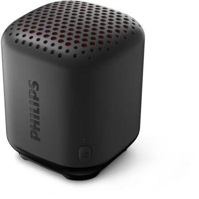image Enceinte Philips S1505B/00 Bluetooth Portable (Robuste et étanche IPX7, Caisson de Basse Passif, Portée 20 m, avec Cordon) Noir - Modèle 2020/2021