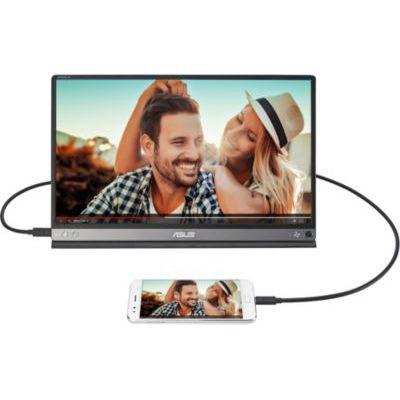 image Ecran ASUS Zenscreen Go MB16AP - 15.6 pouces Full HD  avec Batterie intégrée (4h) - Dalle IPS - 220cd/m² - USB-A et USB-C à connecter à un pc portable/smartphone/tablette