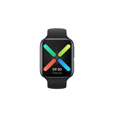 image OPPO Watch Montre connectée 46 mm Noir Écran incurvé AMOLED, GPS, NFC, Bluetooth 4.2, WiFi, Wear OS by Google, Fonction de Charge Rapide VOOC