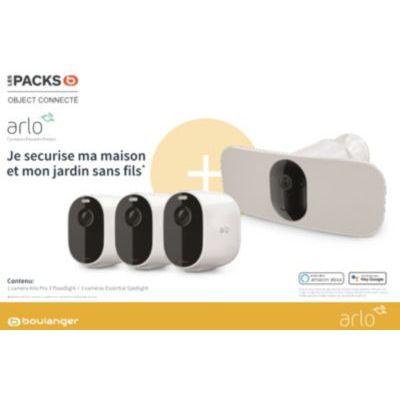 image Caméra de sécurité Arlo Pack Boulanger Pro 3 Floodlight+Ess x3