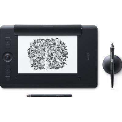 image Wacom Intuos Pro Medium Paper Edition - Tablette graphique à stylet professionnelle - Noir