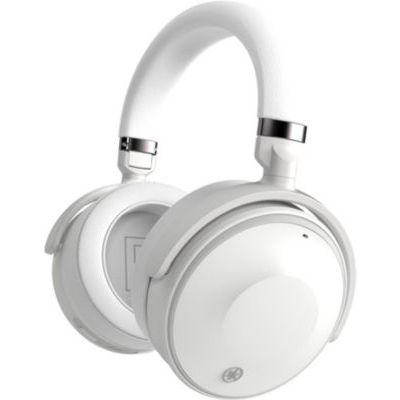 image Yamaha YH-E700A Casque supra-auriculaires sans fil blanc à suppression de bruit active et fonctionnalité mains libres