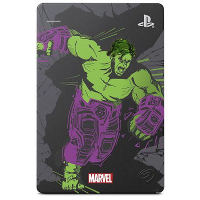 """image Seagate Game Drive pour PS4, 2 To, Avengers Special Edition - Hulk - Disque Dur Externe Portable, 2,5"""", USB 3.0, PS4 (STGD2000204)"""