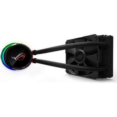 image ASUS ROG RYUO 120 - Kit de watercooling All-in-One ventilateur de 120 mm, interface OLED LiveDash en couleurs, Aura Sync RGB