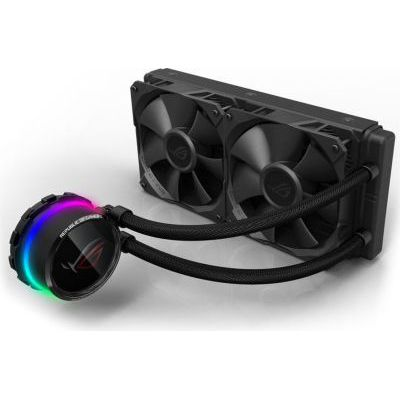 image ASUS - ASUS ROG Kit Watercooling All - In One - Double Ventilateurs 120 mm - Interface OLED - RGB Aura Sync