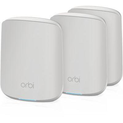 image NETGEAR Système WiFi 6 Mesh Orbi (RBK353), Pack de 3, Routeur WiFi 6 AX1800, WiFi nouvelle génération, WiFi jusqu'à 1.8 Gbit/s, Couverture WiFi Mesh fiable de 300m², compatible toutes box Internet
