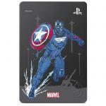"""image produit Seagate Game Drive pour PS4, 2 To, Avengers Special Edition - Captain America, Disque Dur Externe Portable, 2,5"""", USB 3.0, PS4 (STGD2000206) - livrable en France"""